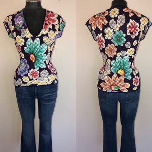 Missoni x Wolford Floral Lace V-Neck Top
